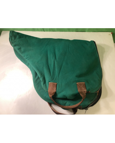 Excellent Condition Green Saddle Bag