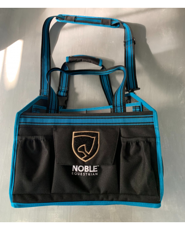 Noble Equestrian Grooming Bag- Color: Black with Blue rim