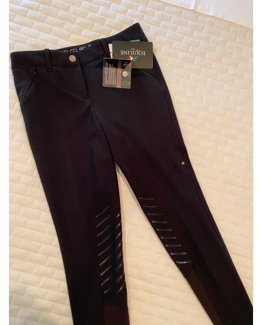 Brand New Black Equiline Woman's Breeches in B-Move Fabric.