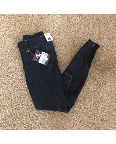 New Women's Size 26 Navy Equine Couture Navy Bobbi Knee Patch Breeches