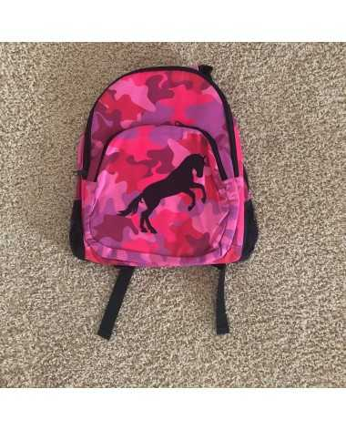 New Tek Trek Pink Camo Horse Backpack