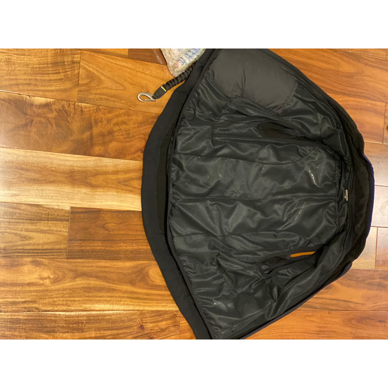 Helite air vest with airbags and soft shell gilet