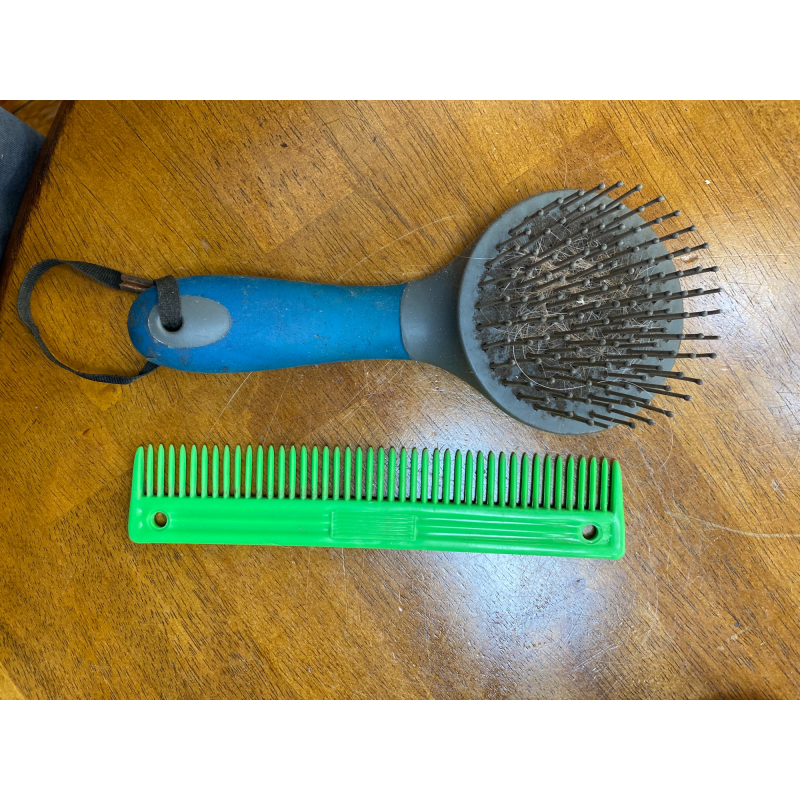 2 mane and tail brushes