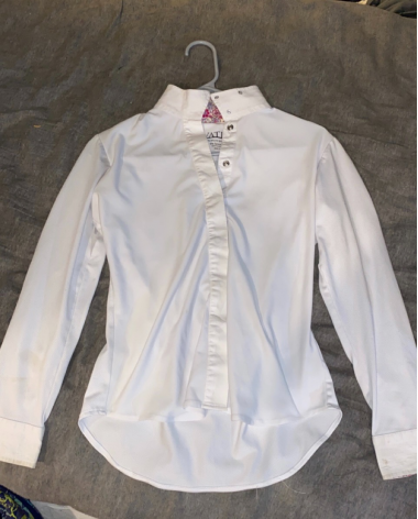 Ovation Childs Longsleeve Show Shirt With Mesh Size 14