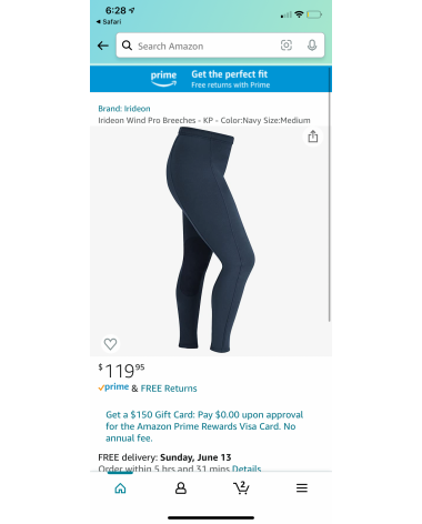 Irideon Breeches with stretchy waste