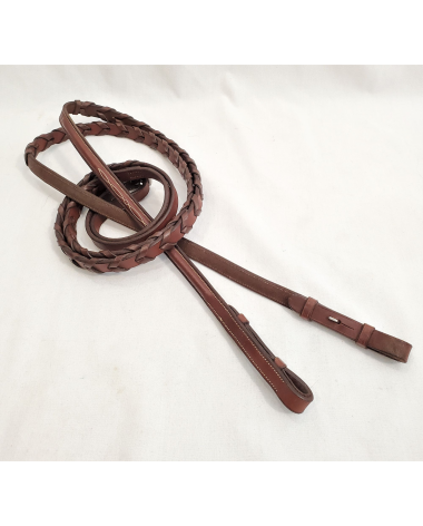 Raised Fancy Stitched Laced Reins - Full