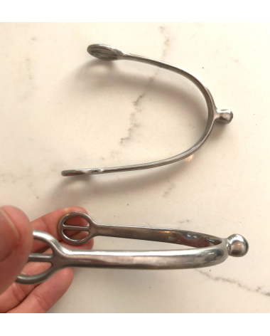 """Rounded End Spurs. Barely used! 1/2"""" neck."""