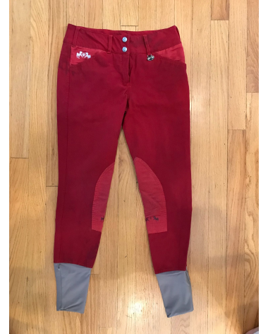 Red Equine Couture schooling breeches. size 26