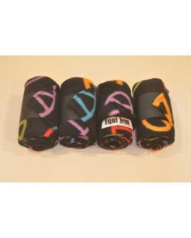 equi jem multi color peace sign polo wraps