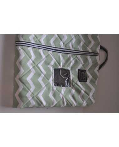 equine couture green chevron show coat bag