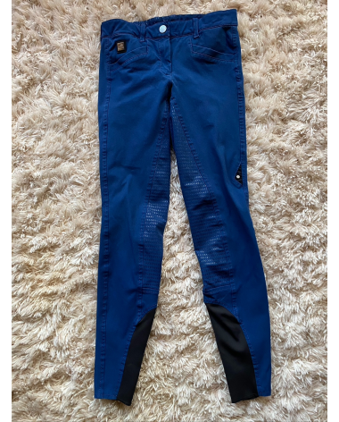 Equiline Blue Full Grip Breeches (US size 24, IT size 40)