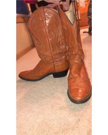 Justin's Light Brown Ostritch Skin Western Boots - Women's 10
