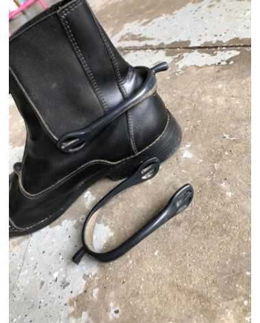 English Black Plastic Spurs