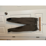 Equine Couture grey breeches with white stitching