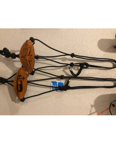 Rope halters with bronc nose band