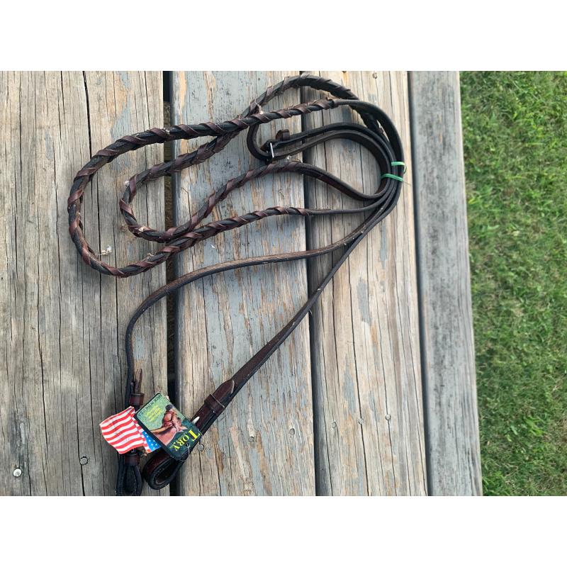 """Tory Leather English Leather Laced Reins. 5/8"""" X 60"""""""