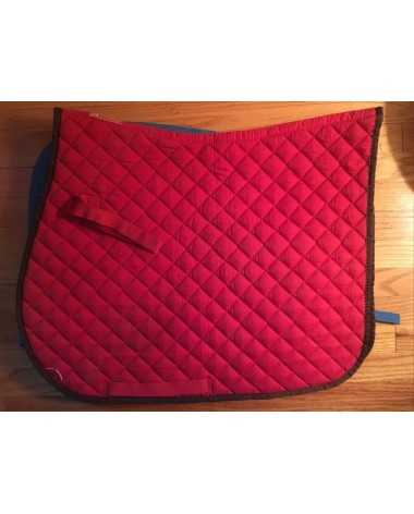 Red w Sage trim saddle pad