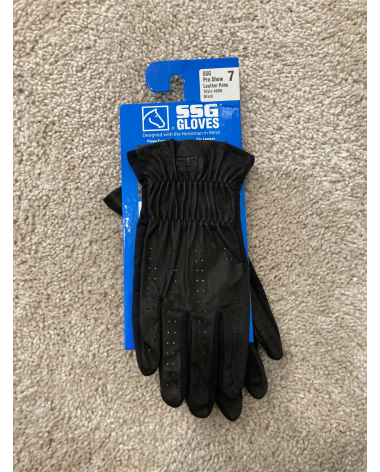 Brand new SSG Pro Show leather gloves - black - size 7