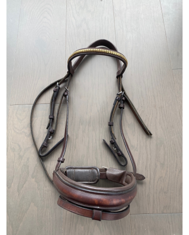 Full Dover monocrown snaffle bridle