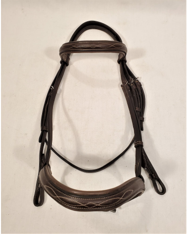 Fancy Stitched Padded Bridle - Full