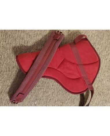 Best Friend Slip-Resistant Bareback Pad in Burgundy