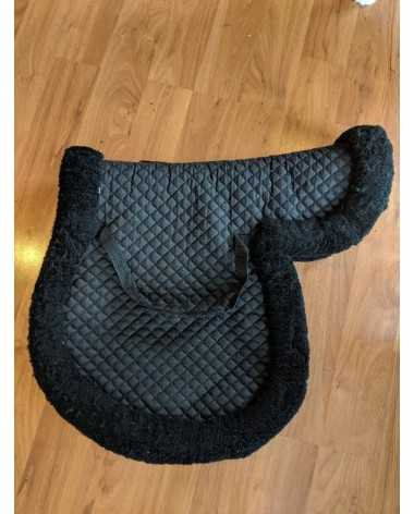 Black FLEECEWORKS saddle pad a/p