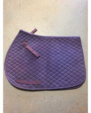 Purple Diamond Quilt Saddle Pad