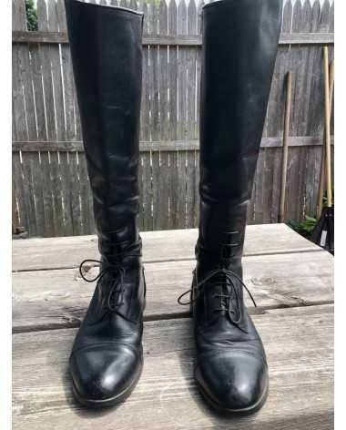 Tall Ariat field boots with zipper