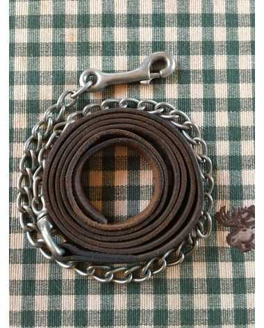 BROKEN HORN BROWN LEATHER SHOW LEAD