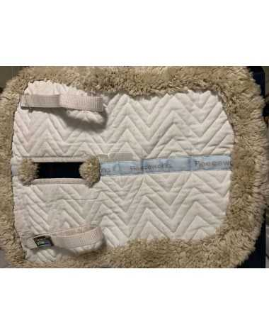 FLEECEWORKS Sheepskin Half Pad With Wither Relief - Good Condition - LG