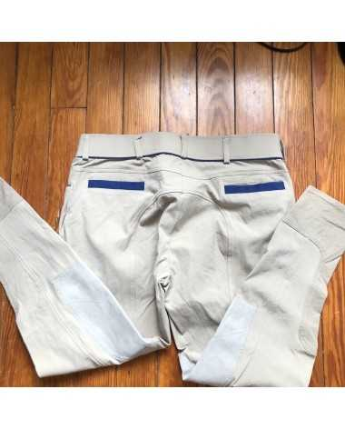 Dover tan breeches with blue accents (34/32)