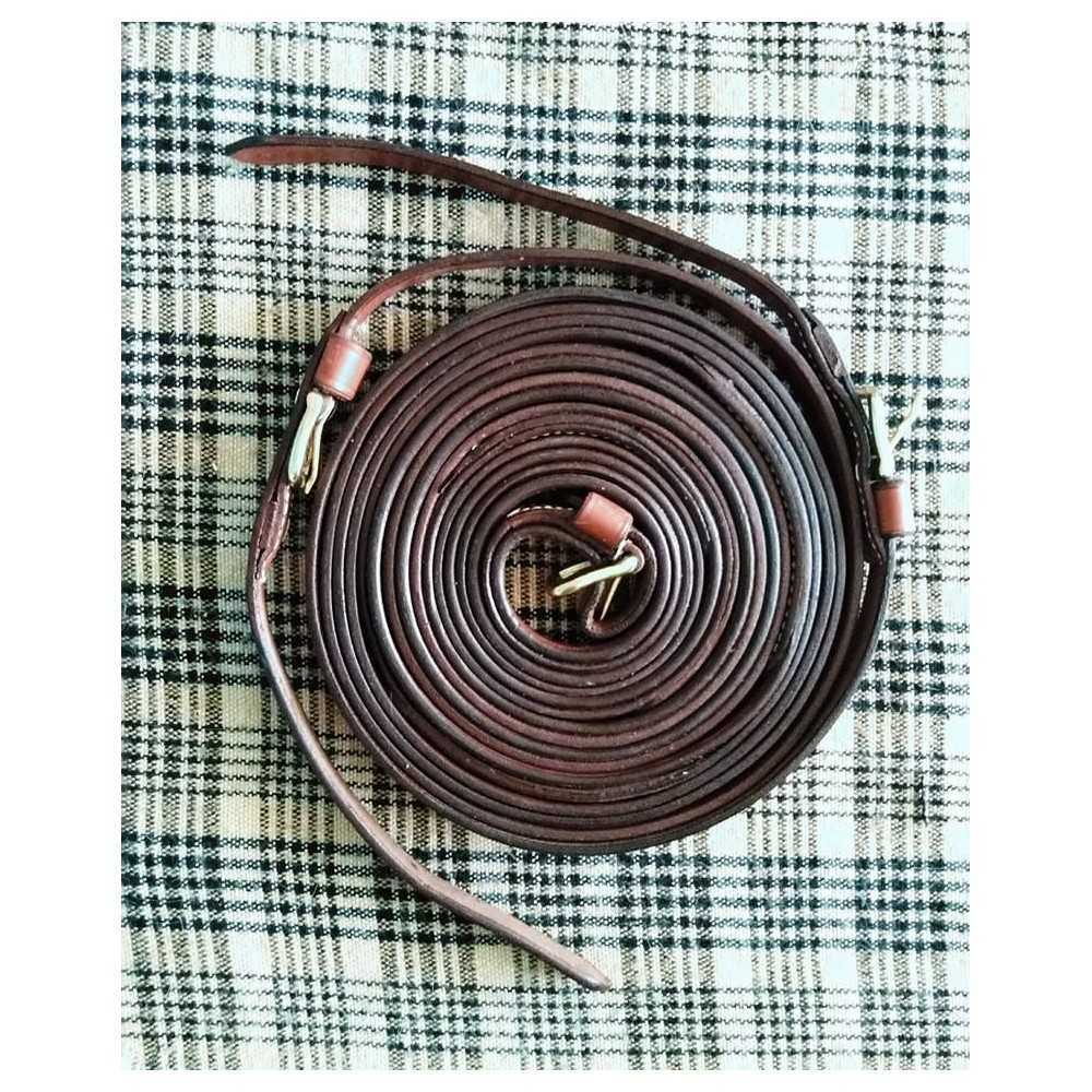 """Top quality, 3/4"""" wide leather harness driving reins"""