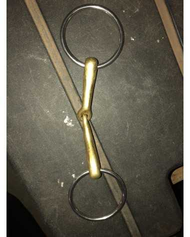Brass loose ring snaffle