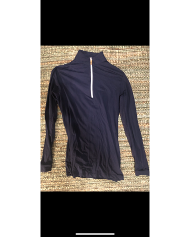 Tailored Sportsman navy sun shirt