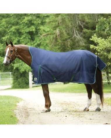 SmartPak Navy Blue & Hunter Green DELUXE High NeckTurnout Blanket