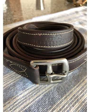 Brand New Schockemohle brown leather stirrup leathers