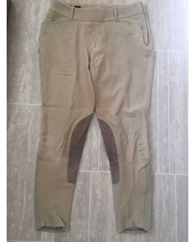 Practically New Tan Ariat Knee Patch Breeches Free Shipping