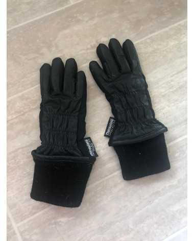 Nice Child Black Leather Winter Show Gloves