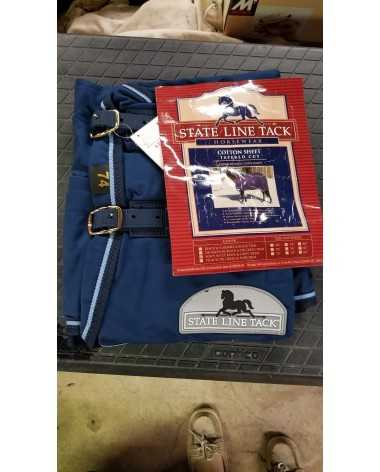 "74"" navy blue stable sheet"