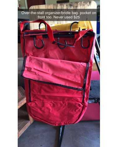 Bridle/over-the-wall organizer bag