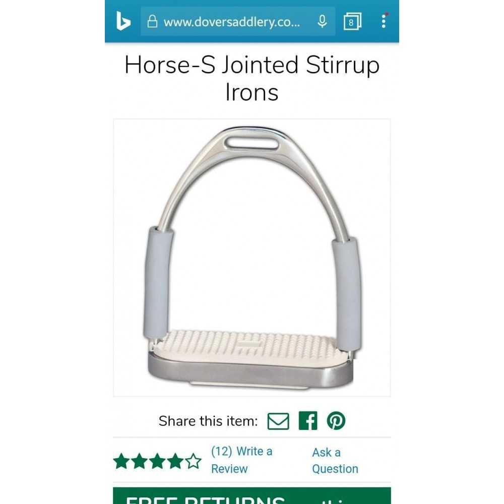 Horse-S Jointed Stirrup Irons 4-3/4