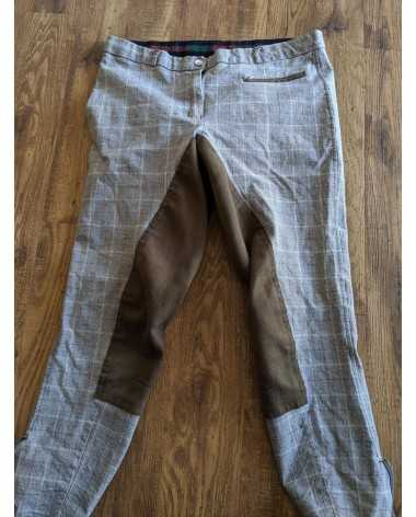 Tuffrider retro plaid fullseat breeches