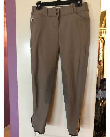 Tailored sportsman, color brown, size 30, front zip low rise.