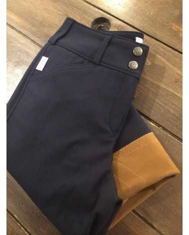 Navy with Tan Patch Tailored Sportman - Size 22