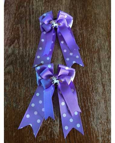 Purple show bows