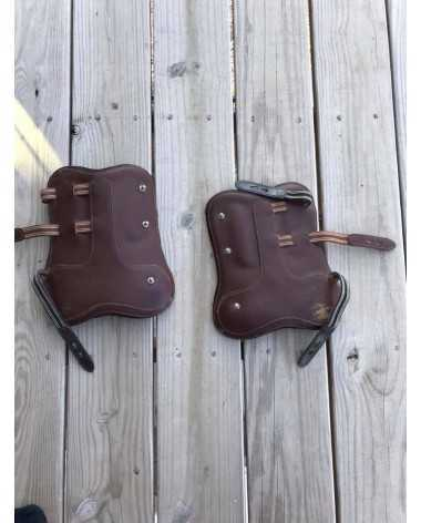 Leather equitation boots