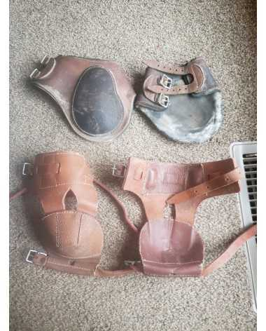 2 Pairs of Hind Jump Boots, Leather