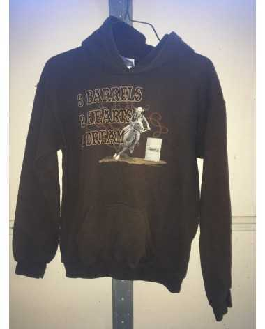 L Youth barrel racer hoodie
