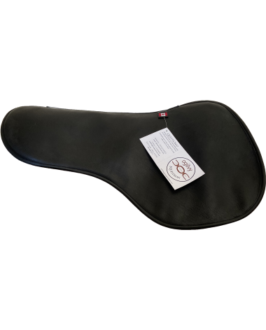 Ogilvy Jump Memory Foam Half Pad Full Leather Black