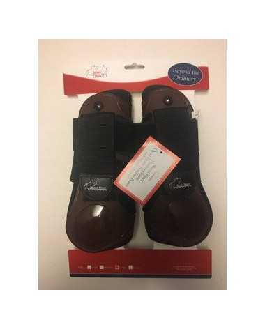 Brown Size Large Thermosplastic Open Front Boots